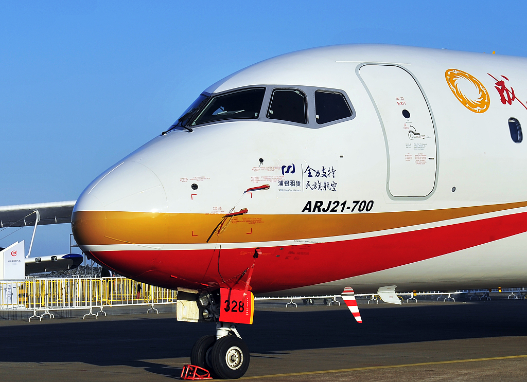 Chinese air carrier uses ARJ21 jetliners to connect more cities