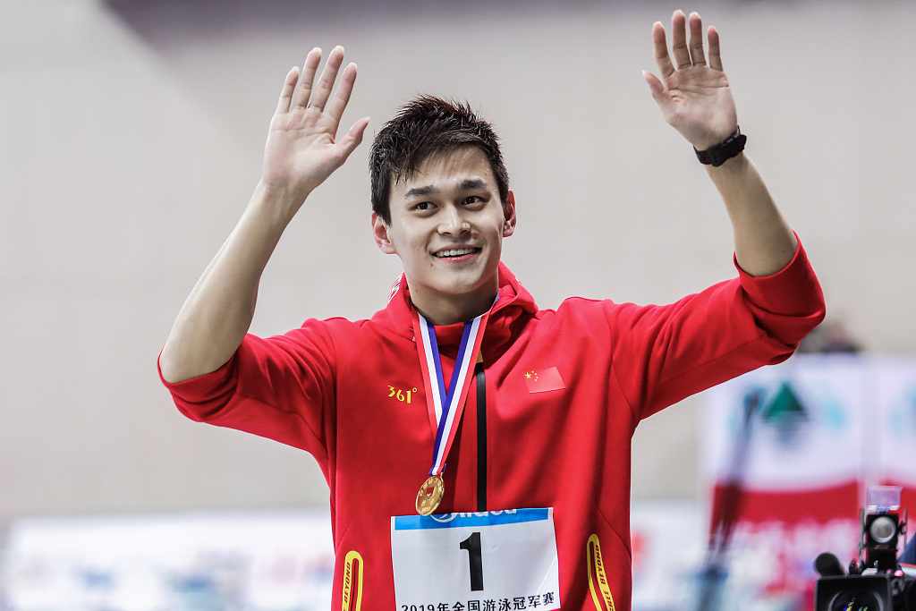 Sun Yang records personal fastest 1,500m freestyle in four years