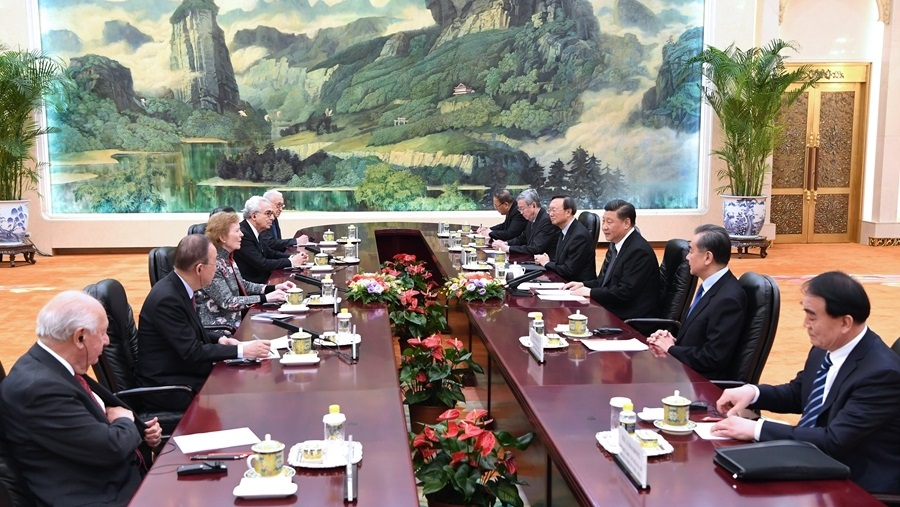 Chinese president meets The Elders delegation