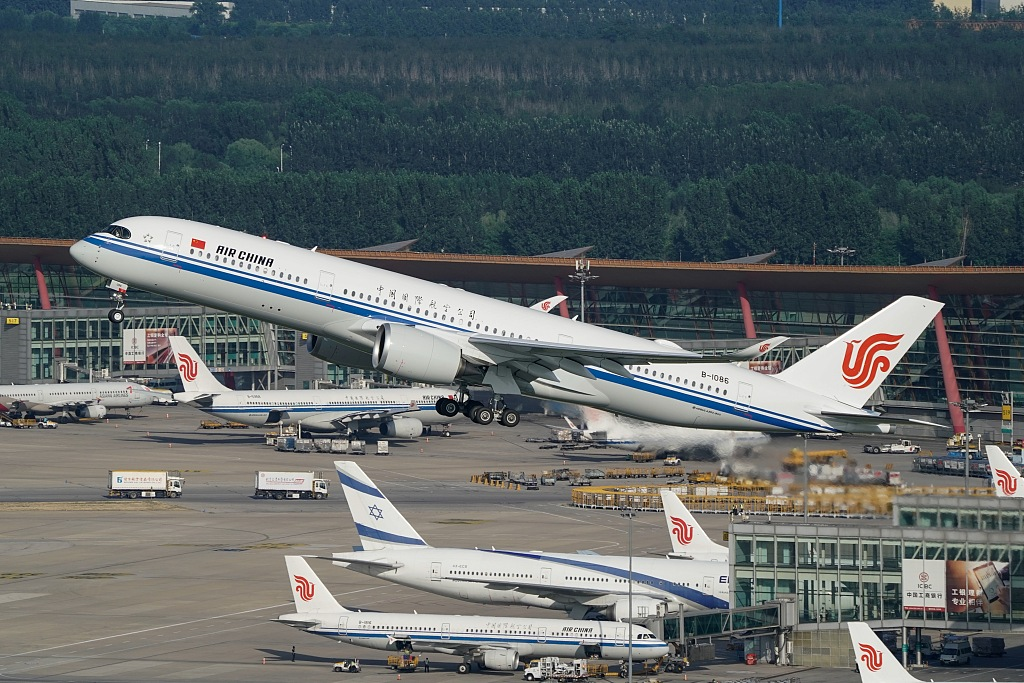 Air China launches horticultural expo-themed aircraft to London