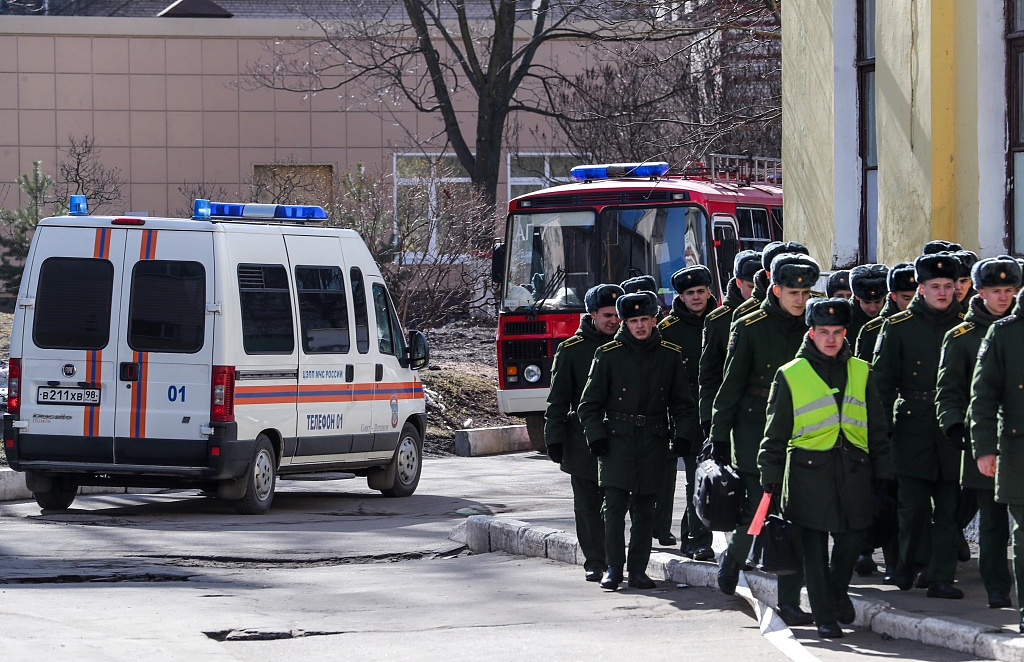 Explosive device wounded three at Saint Petersburg military academy: defence ministry