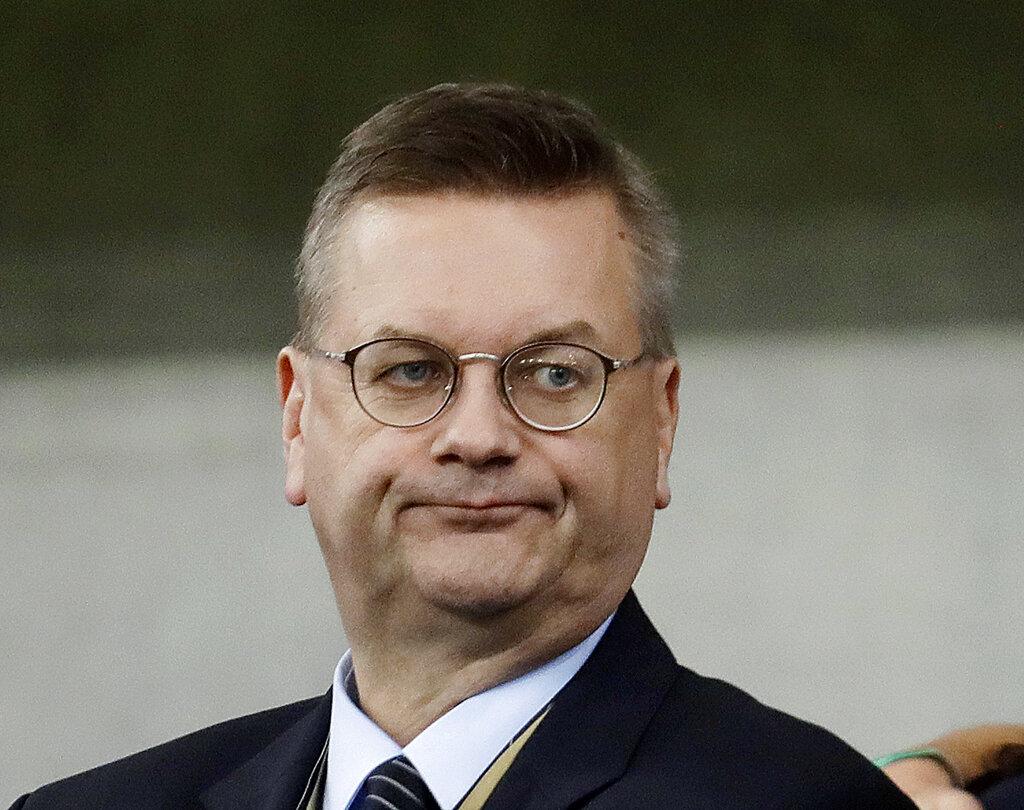 German soccer president Grindel steps down after criticism