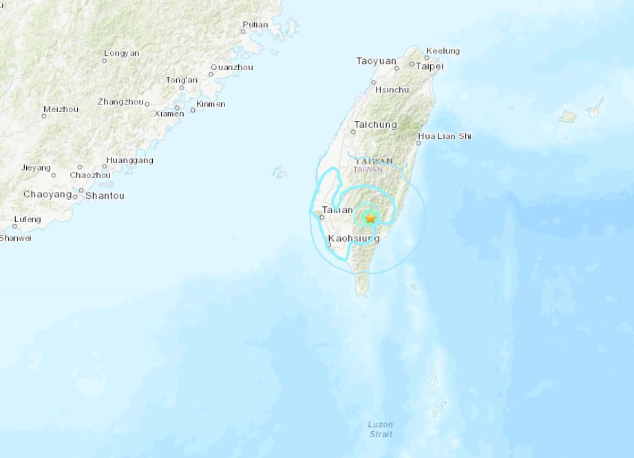 5.7-magnitude quake hits Taiwan: CENC