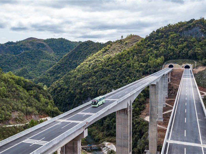 Construction of Sandu-Libo expressway in China's Guizhou fully completed
