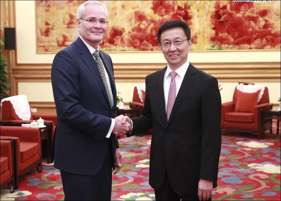 Chinese vice premier meets ExxonMobil chairman and CEO