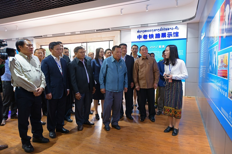 Lao leader wishes the China-Laos railway project to achieve fruitful results