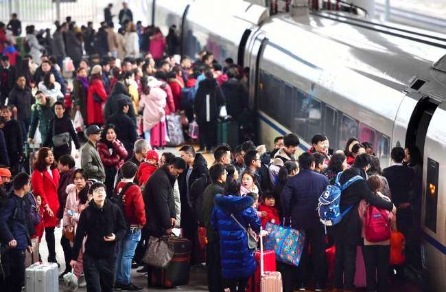 Railway travel surges during holiday