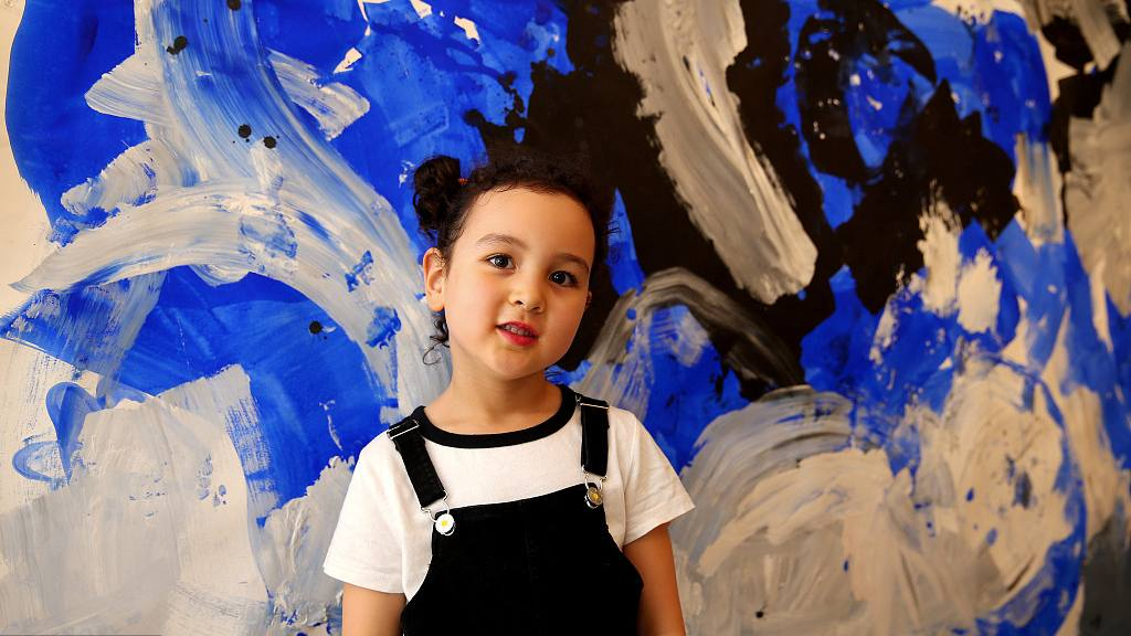 Meet the six-year-old artist at her first solo exhibition