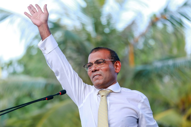 Ex-Maldives president makes comeback with landslide win for party