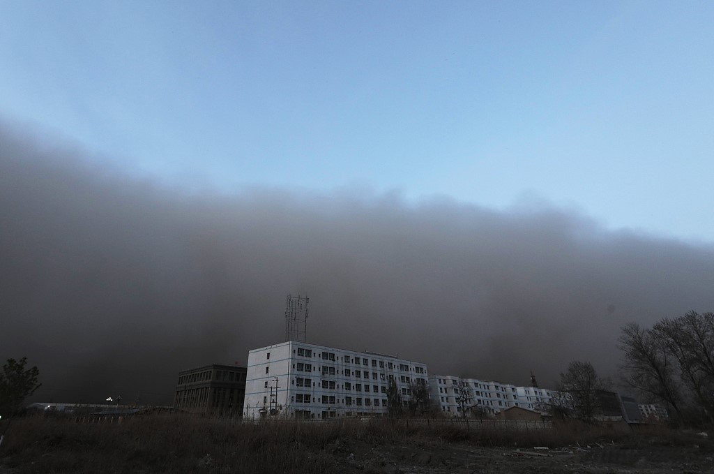 Sandstorm covers China's Alal