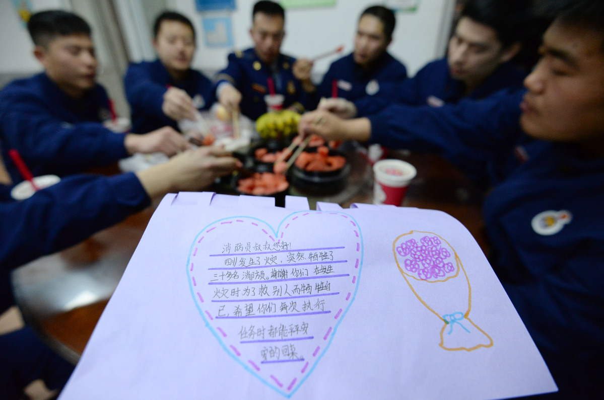 Greetings, gifts flooding firefighters after tragedy