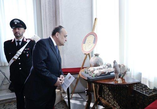 796 cultural artifacts returned by Italian authorities arrive in Beijng