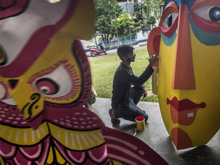 People prepare for Bengali new year in Kolkata, India