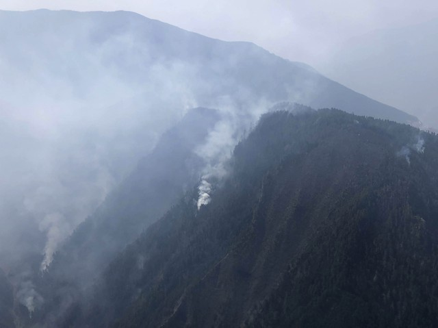 Forest fire in Southwest China extinguished