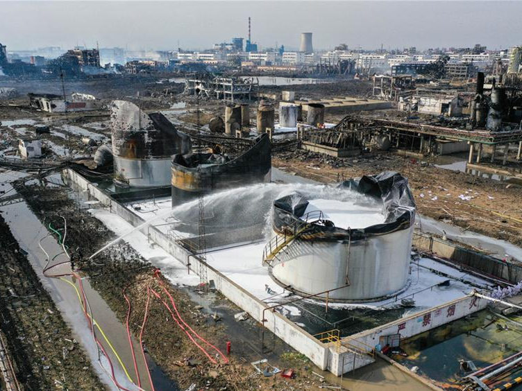 Authorities urge relocation of chemical plants out of densely populated areas