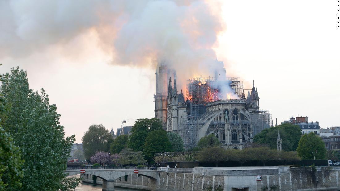 Trump's proposal to control Notre Dame fire 'unrealistic'