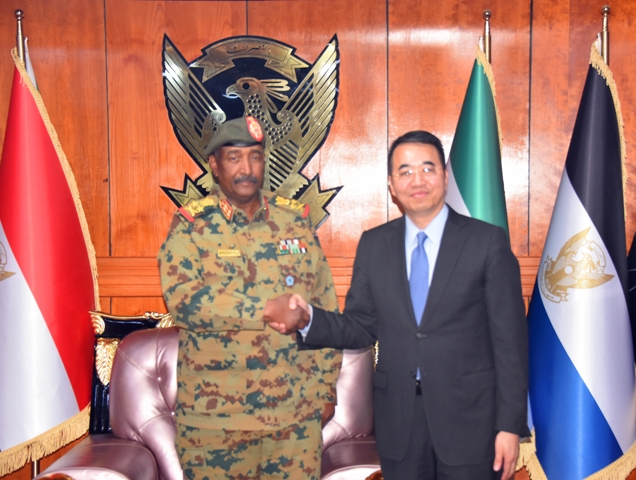 Chinese envoy to Sudan, chairman of Sudan's Transitional Military Council meet