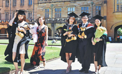 Slower rise in Chinese studying overseas