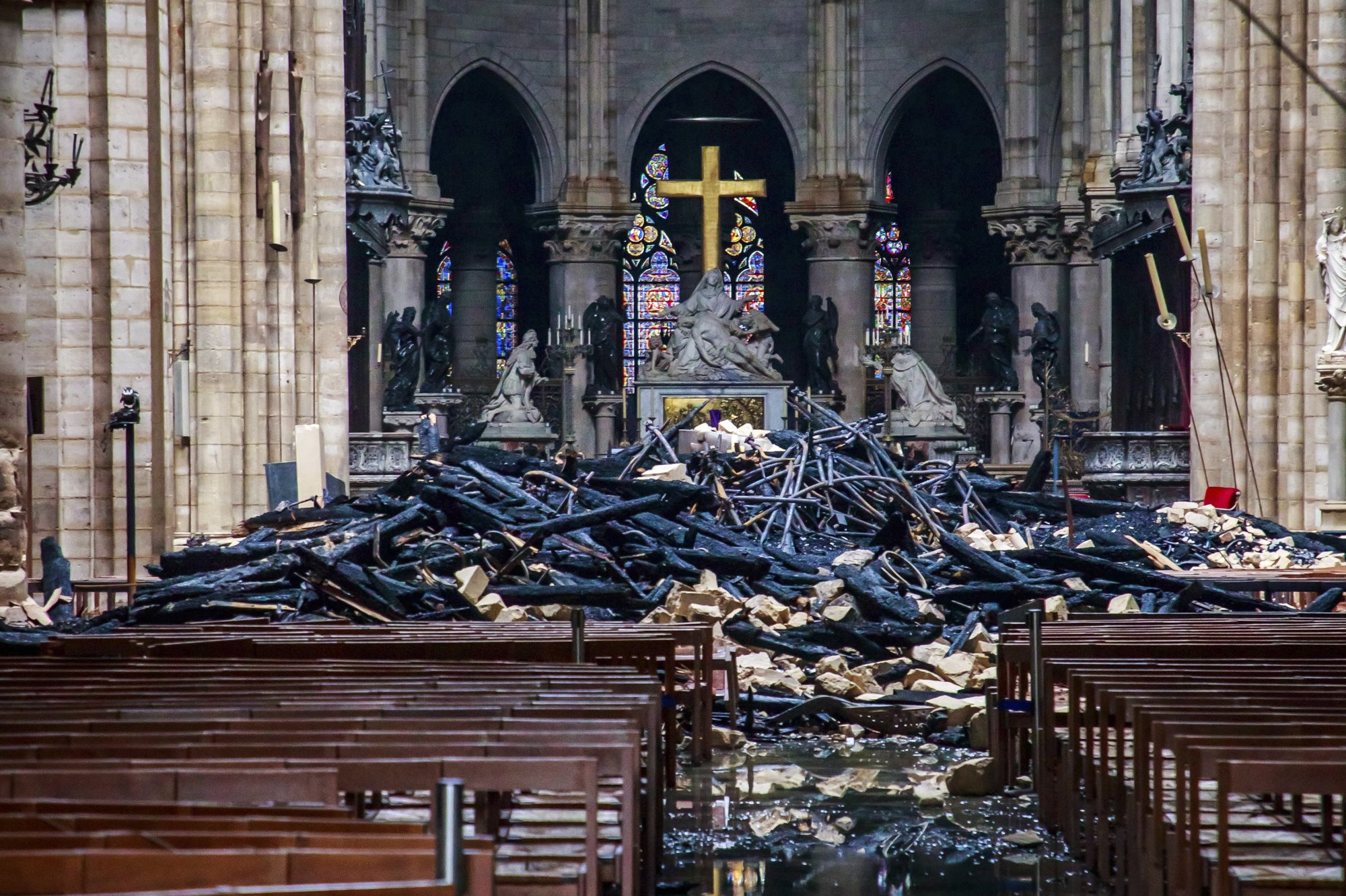 Macron pledges to rebuild Notre Dame Cathedral within five years