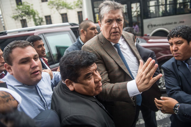 Peru ex-president Garcia dies after shooting himself: party official