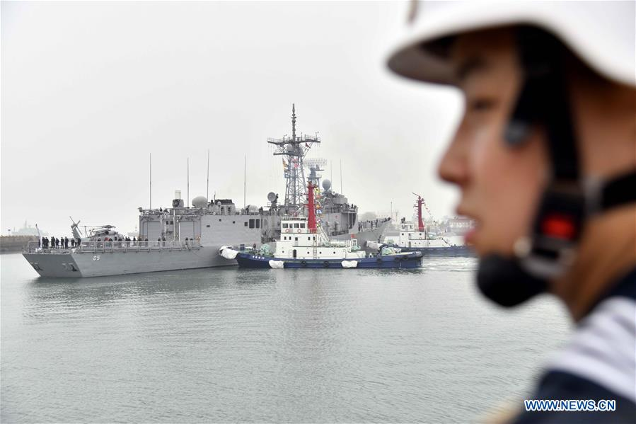 Foreign vessels arrive in Qingdao for naval parade marking Chinese navy anniversary