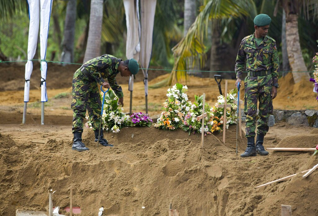 Sri Lankan authorities confirm 9 suicide bombers in Easter attacks