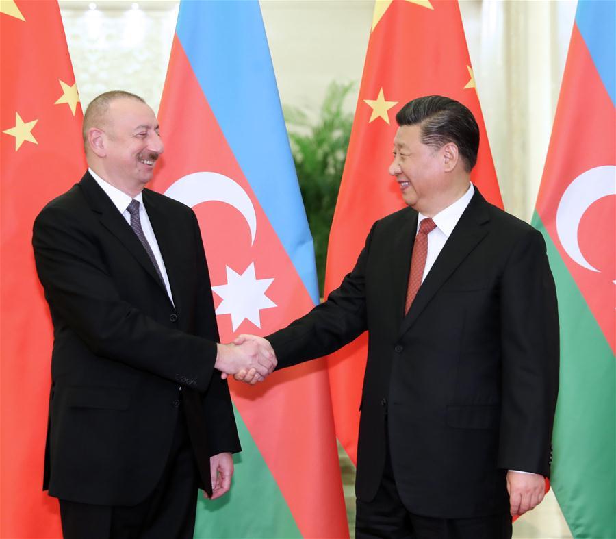 Xi meets Azerbaijani president