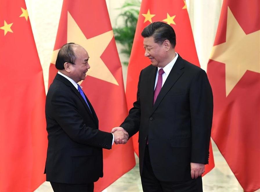 Xi meets Vietnamese PM