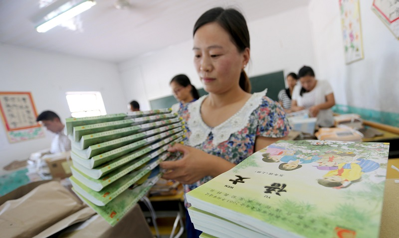 China's school textbooks go green