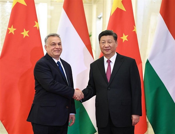Xi meets Hungarian prime minister