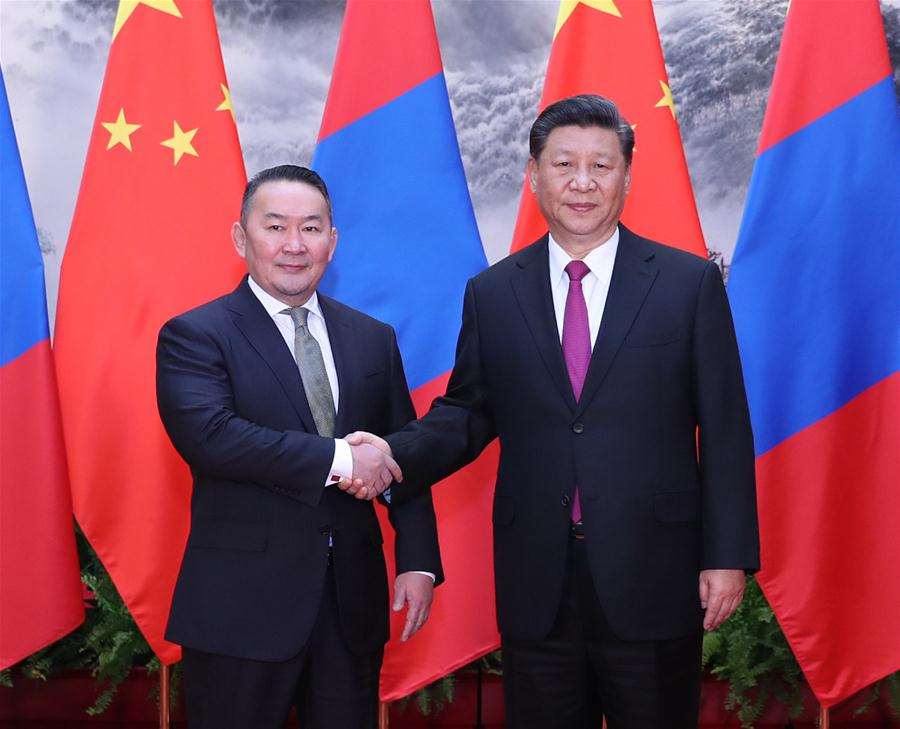 Chinese, Mongolian presidents hold talks