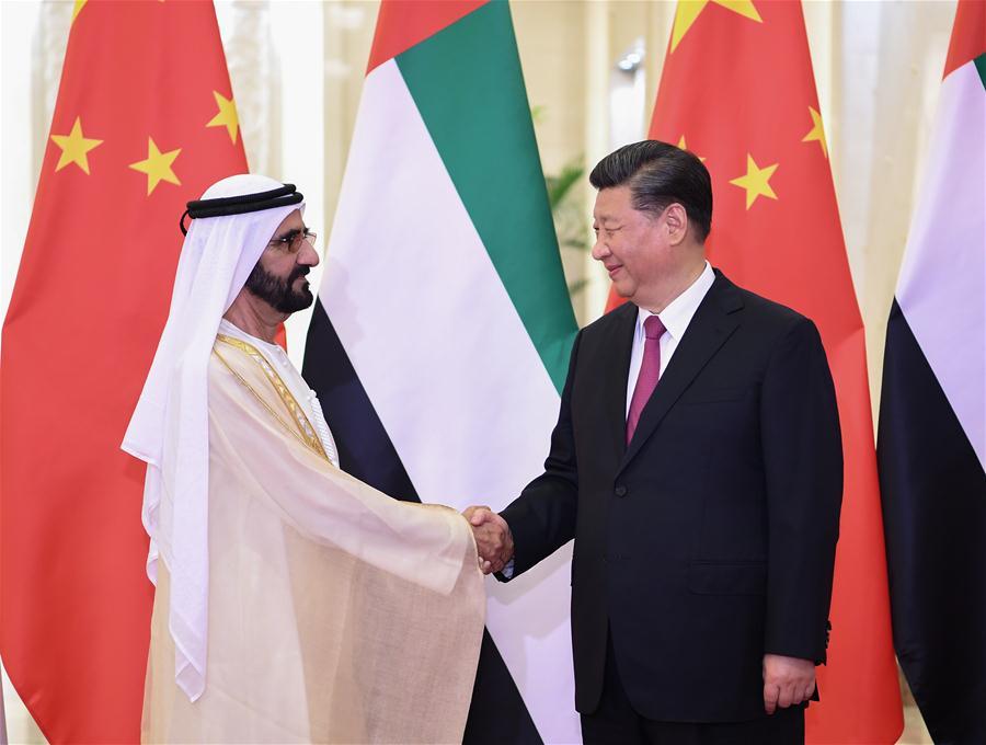 Xi meets UAE vice president