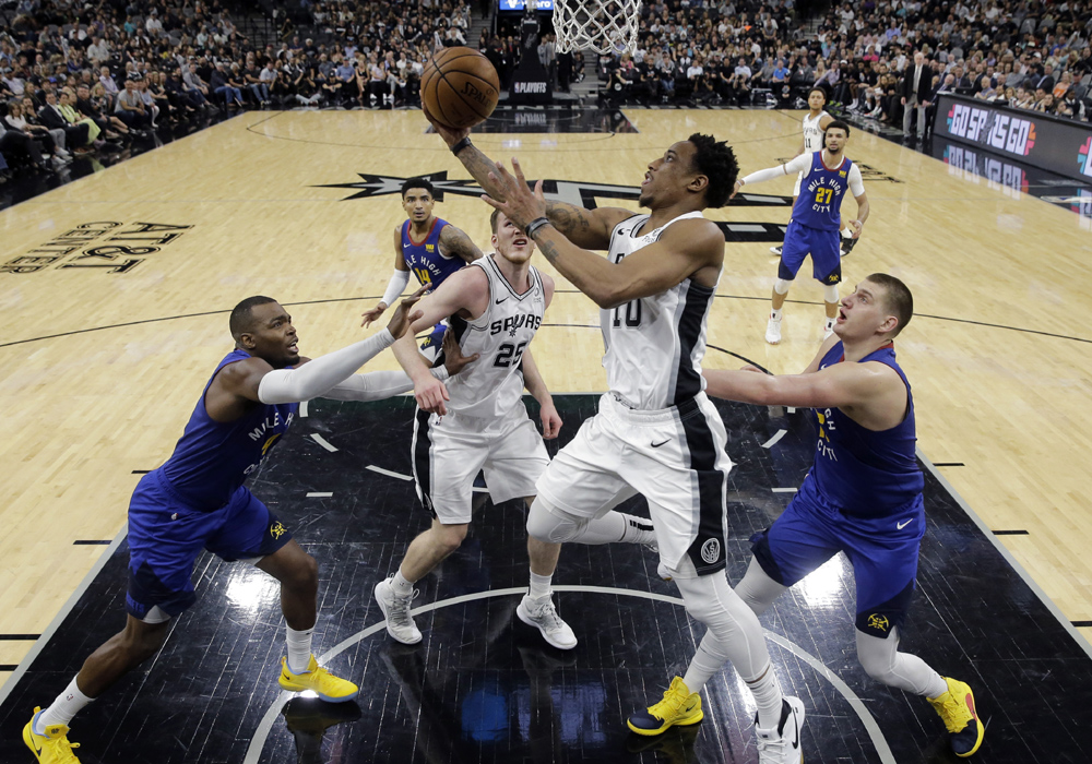 Spurs beat Nuggets, 120-103, to force Game 7 in first round series