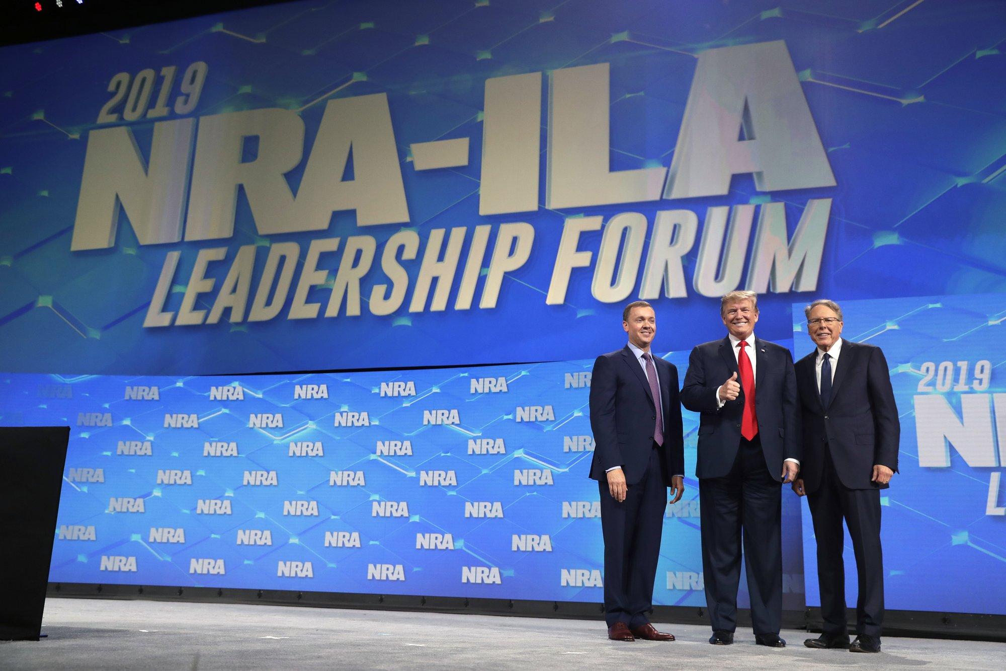 Trump tells NRA he'll fight for gun rights