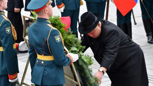 Kim Jong-un leaves Vladivostok after summit with Putin