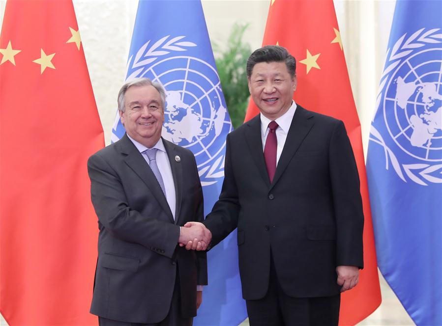 Xi meets UN chief