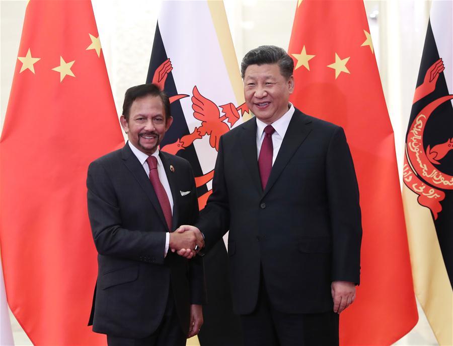 Xi meets Brunei's Sultan