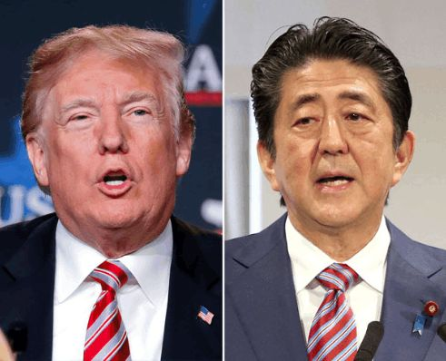 Trump meets with Japan's Abe on trade