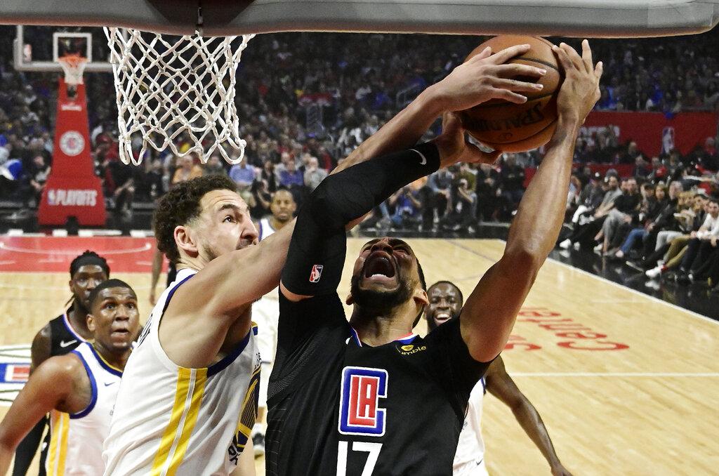 Durant has 50, Warriors beat Clippers 129-110; Rockets next