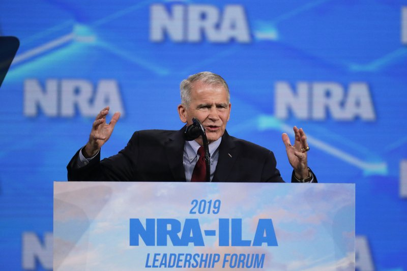 Oliver North says he won't serve 2nd term as NRA president