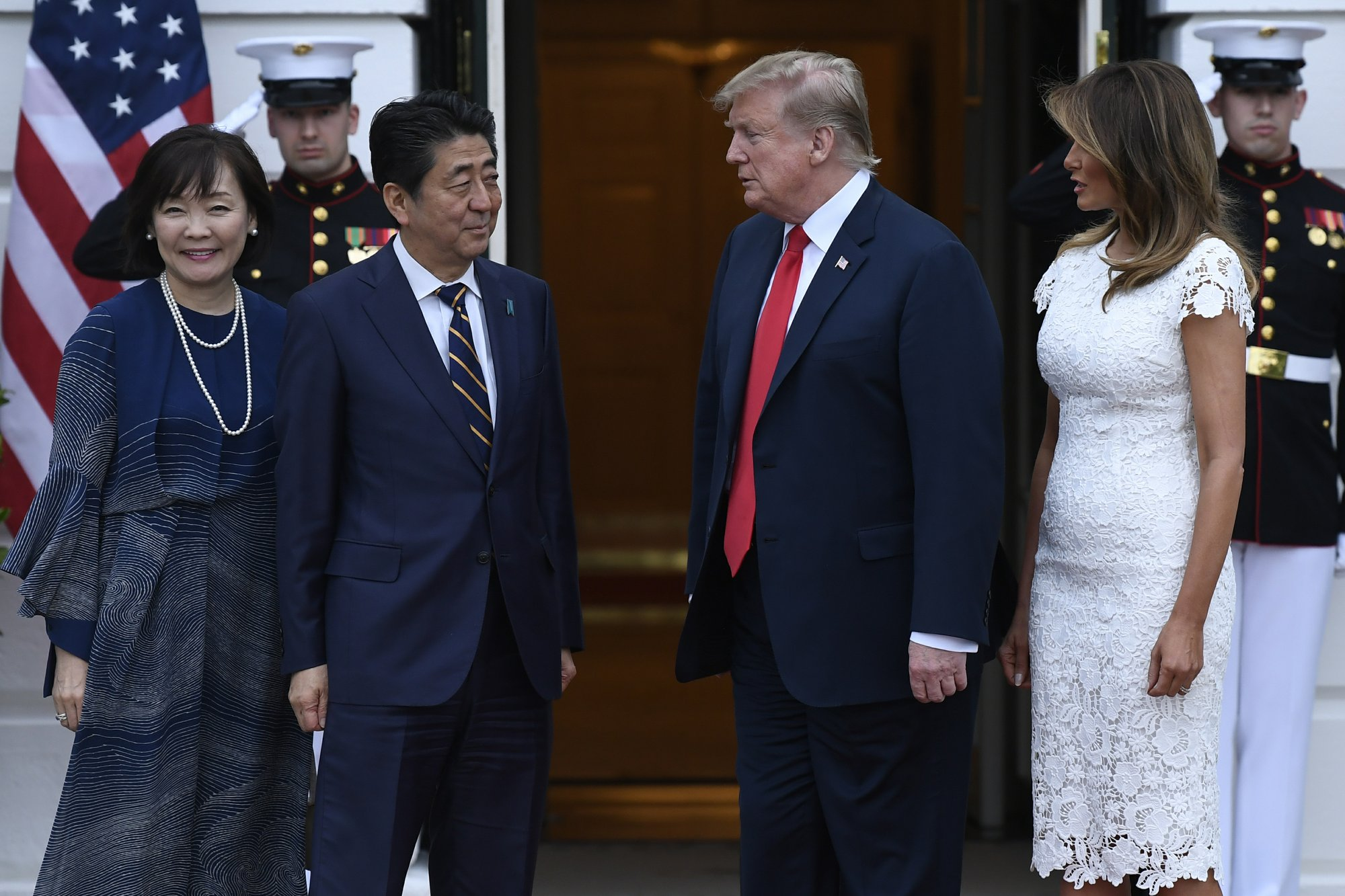 Trump, Japanese leader cap visit with golf outing