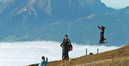 Nation's emphasis on winter sports has increased travel to Switzerland