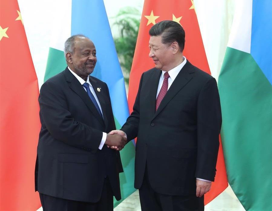 Xi meets Djiboutian president