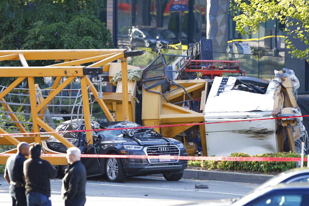 'Terrifying': Crane falls on busy Seattle street, killing 4