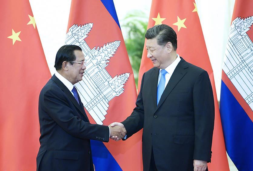 Xi meets Cambodian PM