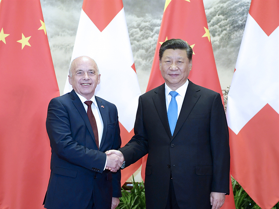 Xi holds talks with Swiss Confederation president