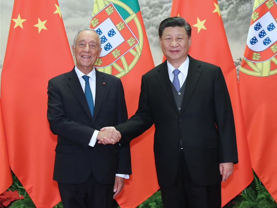 Xi holds talks with Portuguese president