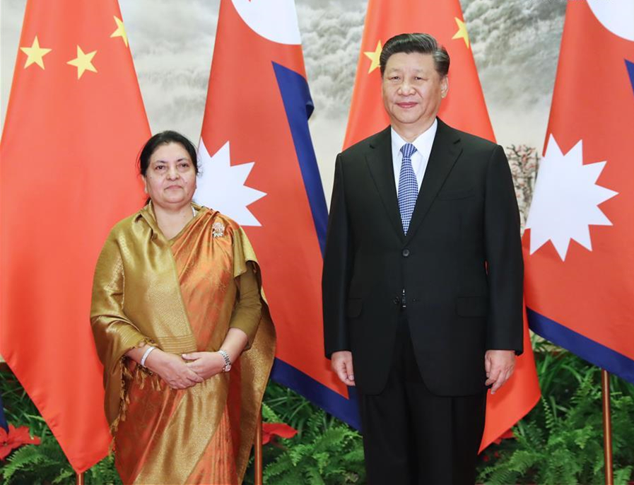 Xi holds talks with Nepalese president