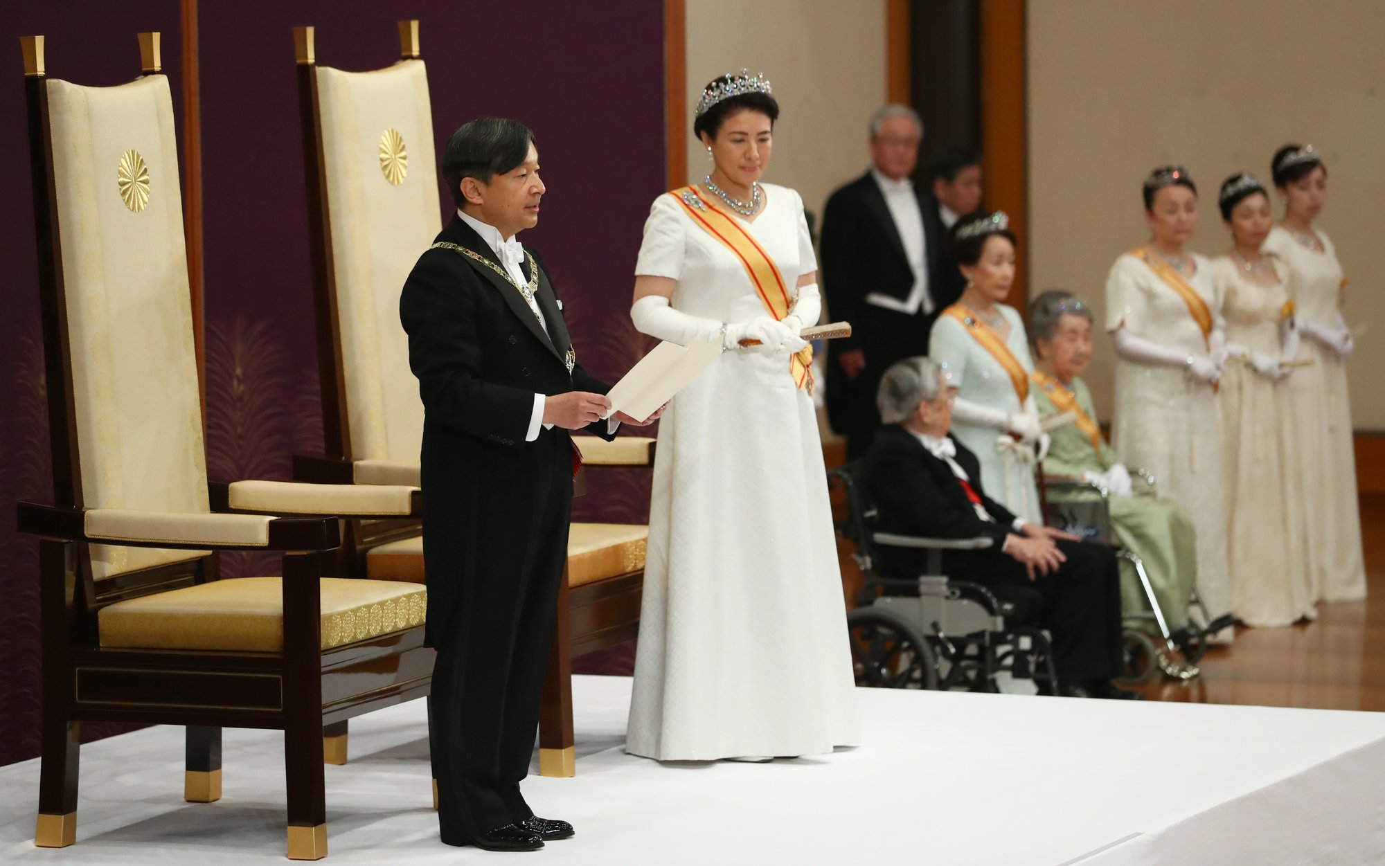 On 1st day as Japan's emperor, Naruhito vows to pursue peace