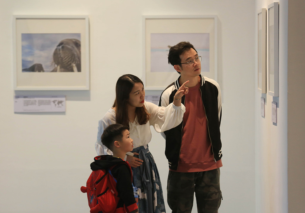 People learn knowledge in various museums